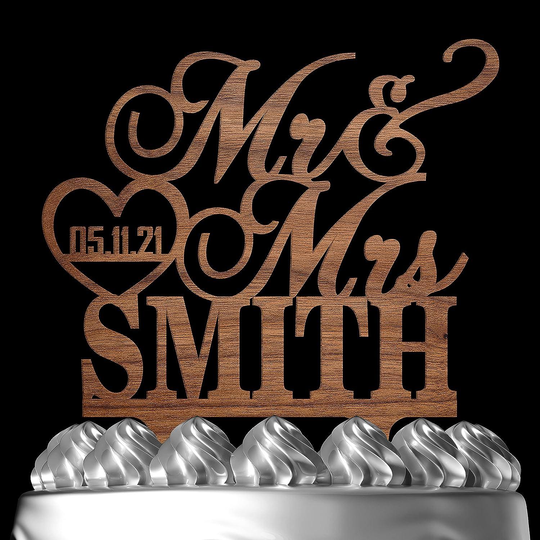 Wedding Cake Toppers Gorgeous Personalized Mr Heart Philadelphia Mall We Mrs Customized