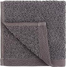 Everplush Diamond Jacquard Quick-Dry Washcloth Towel Set, 6 Pack, Charcoal (Dark Grey)