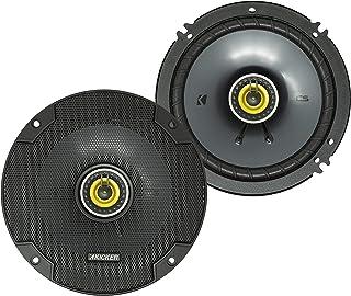 $69 » KICKER CSC65 CS Series 6.5 Inch 300 Watt 4 Ohm 2-Way Car Audio Coaxial Speakers System with Polypropylene Cone, PEI Tweete...