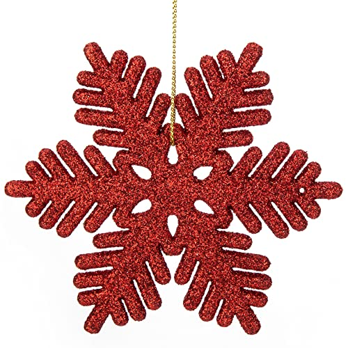 a391c7207a470 iPEGTOP 24 pcs Plastic Shinny Glitter Christmas Snowflake Ornaments Set for  Craft DIY Party Home Holiday
