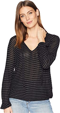 Drop Needle Stripe Top