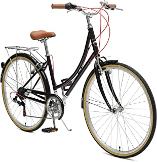 Critical Cycles Beaumont-7 Seven Speed Lady's Urban City Commuter Bike, Black, 38cm (Small/Medium)