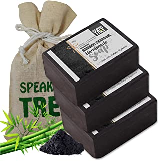Speaking Tree Specially Formulated and Cold Processed Deodorizing Bamboo Charcoal Handmade Soap to Cleanse Skin Naturally ...