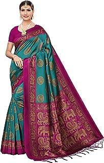 Anni Designer Women's Mysore Silk Printed Saree Border Tassels With Blouse Piece
