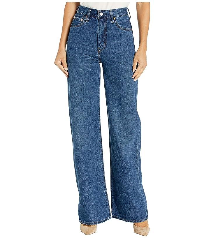 Vintage High Waisted Trousers, Sailor Pants, Jeans Levisr Premium Ribcage Wide Leg High Times Womens Jeans $88.20 AT vintagedancer.com