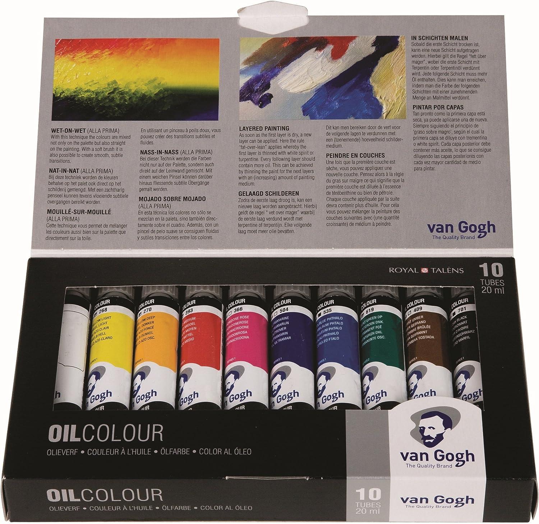 Van Gogh aceites básicos (10 Unidades), Selección General, Juego estándar, Talla única, 200
