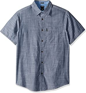 Men's Modern Fit Short Sleeve Chambray Shirt