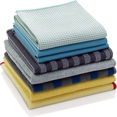 E-Cloth Microfiber Home Cleaning Set for Nontoxic Cleaning with Just Water, 8 Cloth Set product image