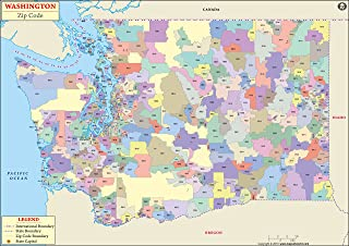 Washington zip code map (36