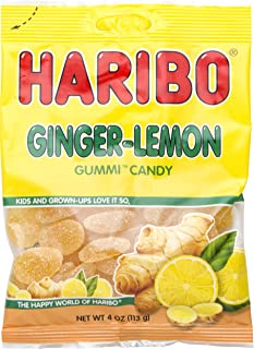 Haribo Ginger Lemon Gummi Candy, 4 oz (Pack of 3)