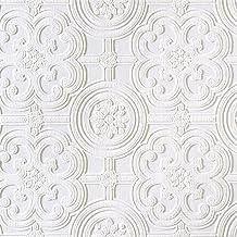 Brewster RD80029 Anaglypta Wallpaper, 21-Inch x 396-Inch, Whites