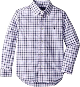 Plaid Stretch Poplin Shirt (Little Kids/Big Kids)