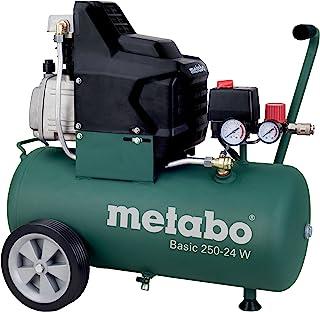 Metabo Kompressor Basic inkl. LPZ 4 - tillbehörssats (1 500 watt, 24 liter, 8 bar, sugkraft 220 liter/minut, tryckregulato...