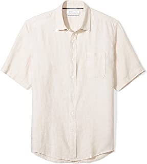 Men's Regular-Fit Short-Sleeve Linen Shirt
