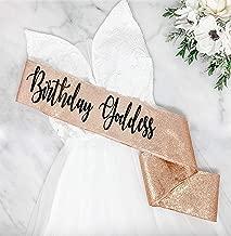 Birthday Goddess - Rose Gold Glitter Birthday Sash