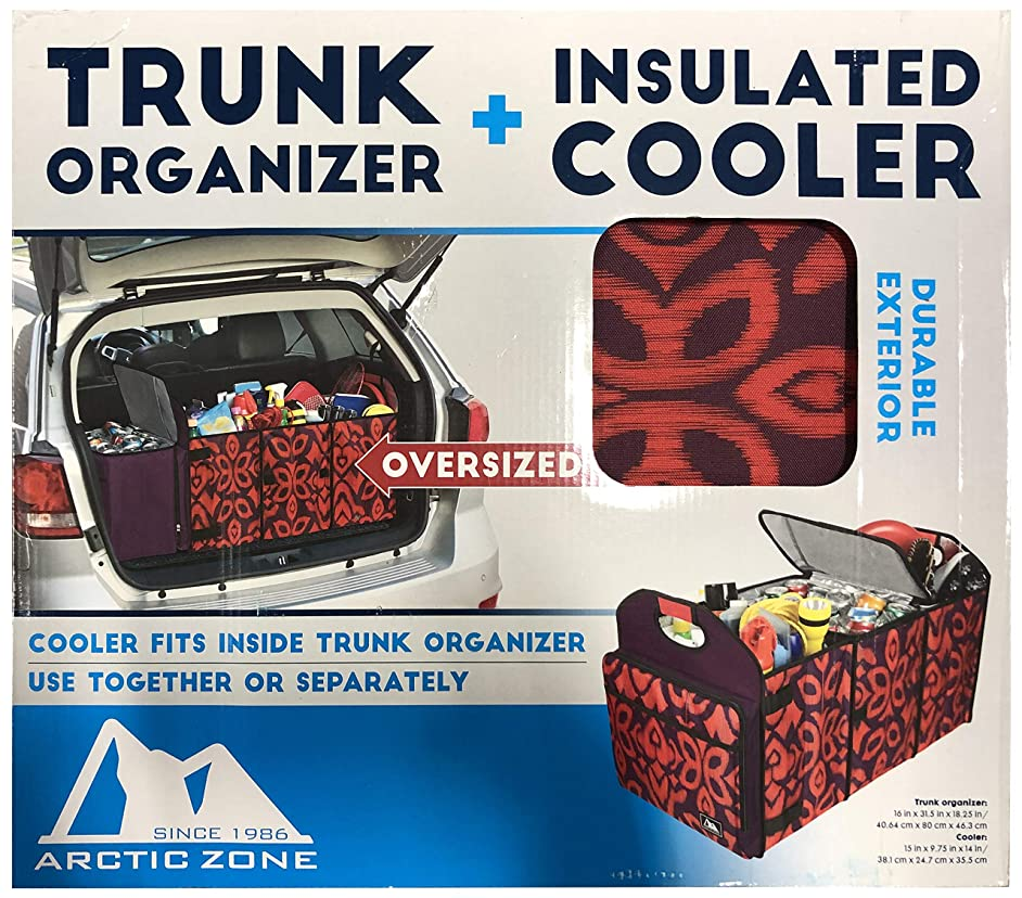 Arctic Zone Trunk Organizer with 35 Can Cooler Insert, Maroon