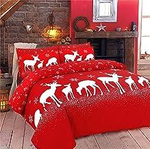 Rimi Hanger Christine And December Print Christmas Duvet Quilt Cover Pillow Case Bedding Set December King