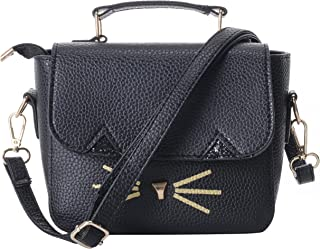 Women's Cute Cat Handbag Square Shoulder Bag Messenger Square Satchel