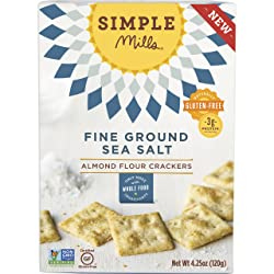 Simple Mills Almond Flour Crackers, Fine Ground Sea Salt, 4.25 oz