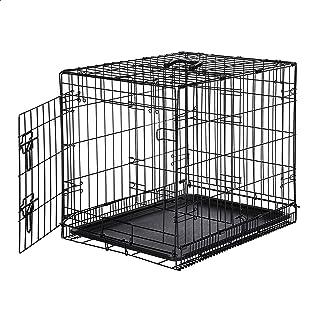 AmazonBasics Single-Door Folding Metal Dog or Pet Crate...