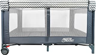 Romp & Roost Luxe Oversized Playard, Great for Twins or Playdates - Now Lighter and Softer with More Padding - Chevron