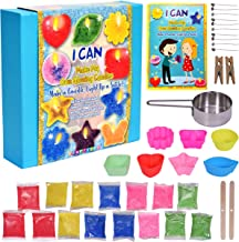 KRAFTZLAB Ultimate Candle Making Kit Supplies – Includes 5 Colors Candle Wax, 7 Candle Molds, 10 Wicks, 1 Melting Cup and ...