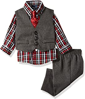 Baby Boys 4-Piece Set with Dress Shirt, Vest, Pants, and Tie