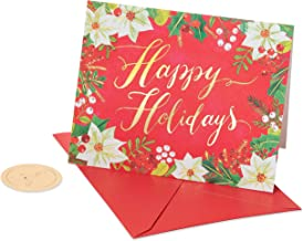 Papyrus Holiday Boxed Cards, Happy Holidays Glitter (20-Count)