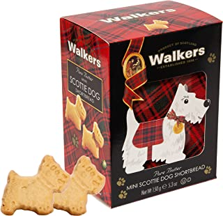 Walkers Shortbread Mini Scottie Dog Shaped Shortbread Cookies, 5.3 Ounce Box