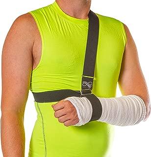 BraceAbility Wrist Sling | Broken Arm Shower Support, Wrist Fracture Cast Holder, Waterproof Elevated Shoulder Strap & Medical Ergonomic Cuff and Collar Immobilizer (Universal)