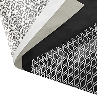 Black and White Gift Wrapping Tissue Paper Set - 120 Sheets - 14