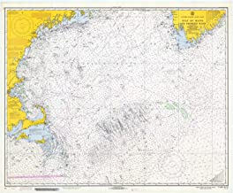 Map - Gulf Of Maine And Georges Bank, 1970 Nautical NOAA Chart - Vintage Wall Art - 44in x 36in