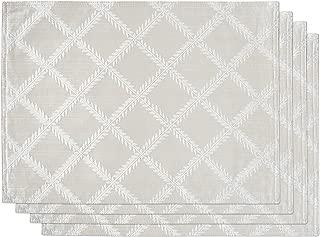 Lenox Laurel Leaf Set of 4 Placemats, Platinum