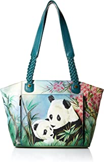 Anna by Anuschka Hand Painted Leather Women's East WEST Organizer Tote