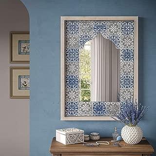 Sylvie Moroccan Wall Mirror - N/a Blue Farmhouse Traditional