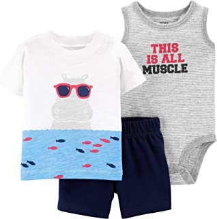 Baby Boys' 3-Piece Little Short Sets