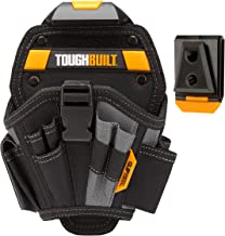 ToughBuilt - Drill Holster - Large - Multi-Pocket Organizer Heavy Duty - 13 Pockets 7 Drill Pockets & 2 Screw Driver Loops (Patented ClipTech Hub & Work Belts) (TB-CT-20-L)