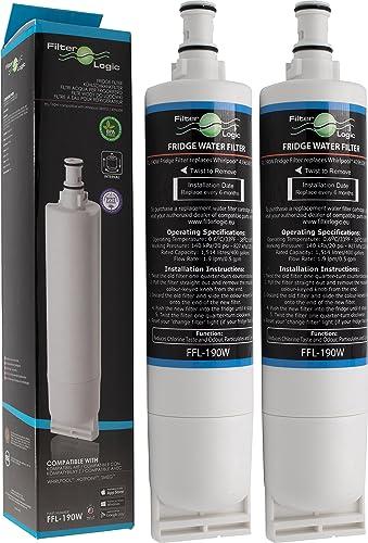 FilterLogic FFL-190W | Filtre à eau compatible avec Whirlpool SBS200, 484000008726 - SBS002, 481281729632 - SBS001, 4...