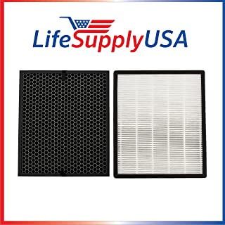 lifesupplyusa LeVoit空気清浄機交換用フィルタセットlv-pur131、lv-pur131-rf True HEPA & Activated Carbon Filtersセット