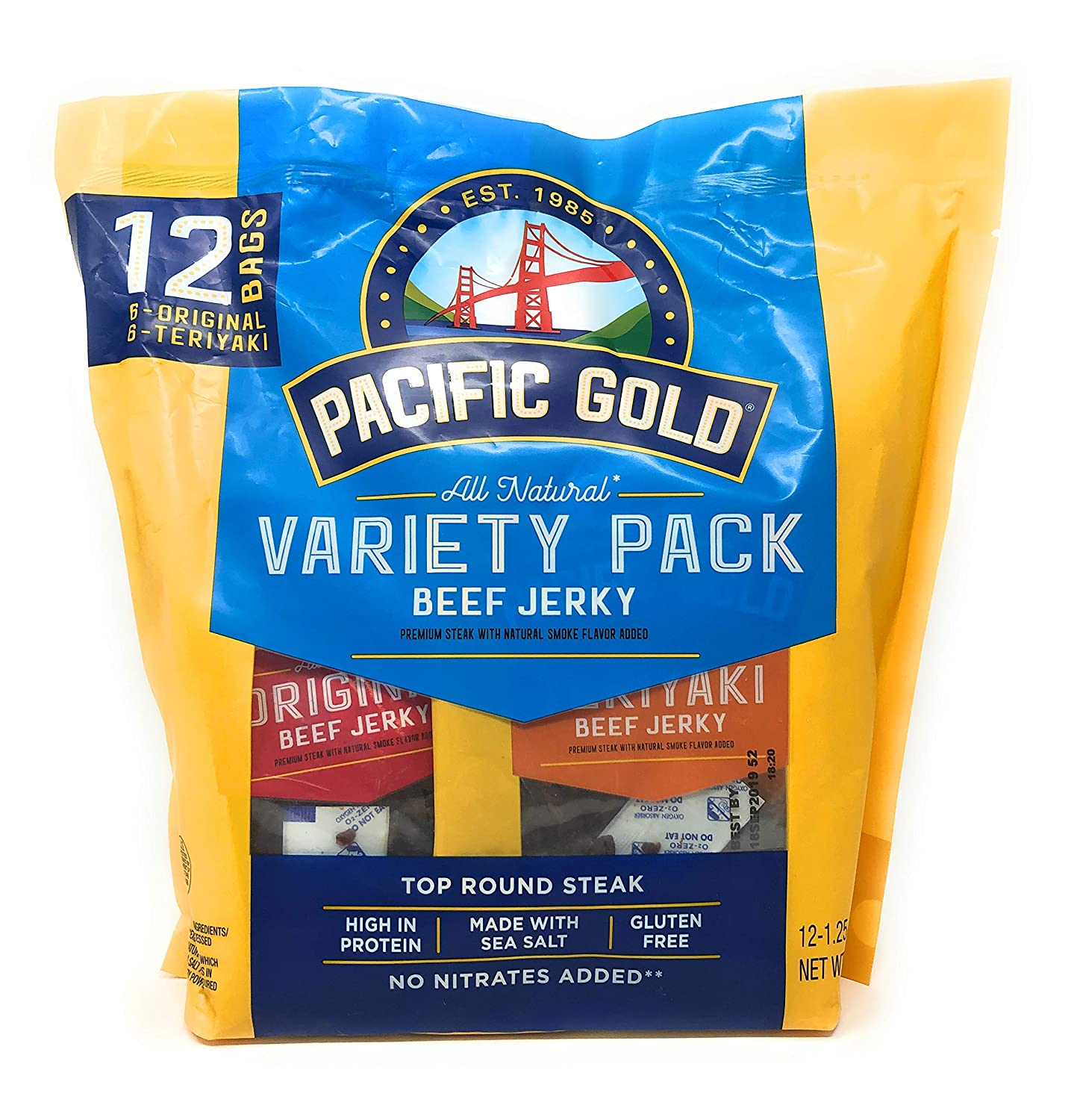 Pacific Gold safety Beef Jerky Original Teriyaki Count Bag 2 Per New York Mall 12