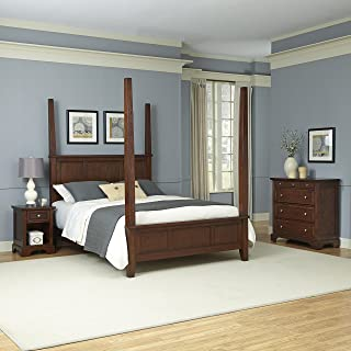 Chesapeake Classic Cherry King Poster Bed and Night Stand and Chest by Home Styles
