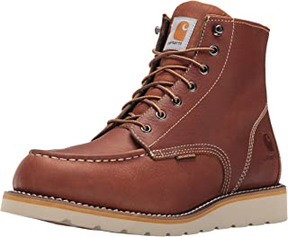 Men's 6-Inch Waterproof Wedge Soft Toe Work Boot