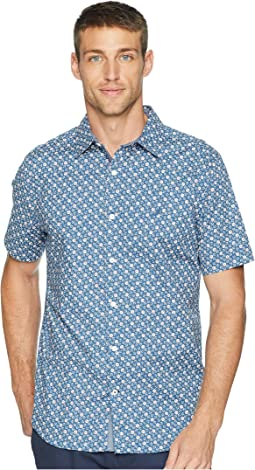 Short Sleeve Anchor Print Poplin Woven Shirt