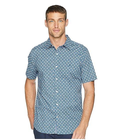 Short Sleeve Anchor Print Poplin Woven Shirt