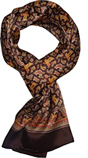 Ellettee, 63 inches Man's 100 Pure silk scarf wrap Accessory gift