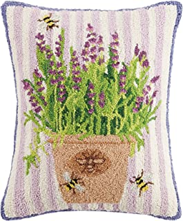 Mary Lake Thompson Lavender Bees Hook, 16x20 Throw Pillow