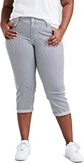 Levi's Women's Plus Size Shaping Capri Jeans
