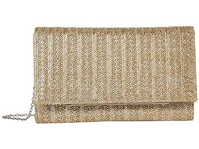 Jessica McClintock Nora (Silver Straw) Clutch Handbags