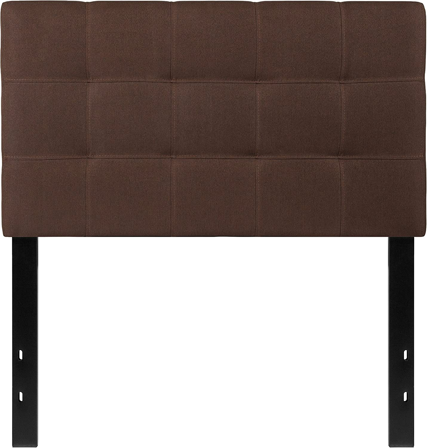 Flash Furniture Bedford Tufted Upholstered Twin Size Headboard in Dark Brown Fabric