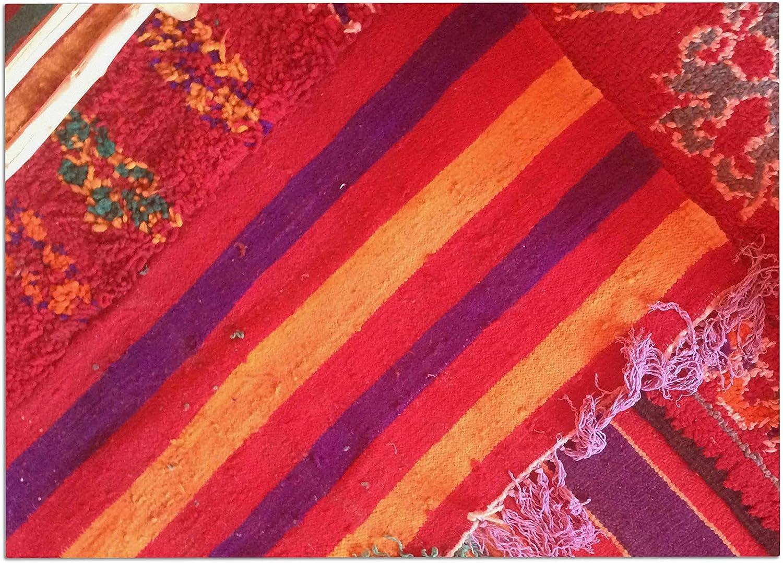 KESS InHouse KE1004ADM02 Luvprintz Carpet Red orange Dog Place Mat, 24  x 15